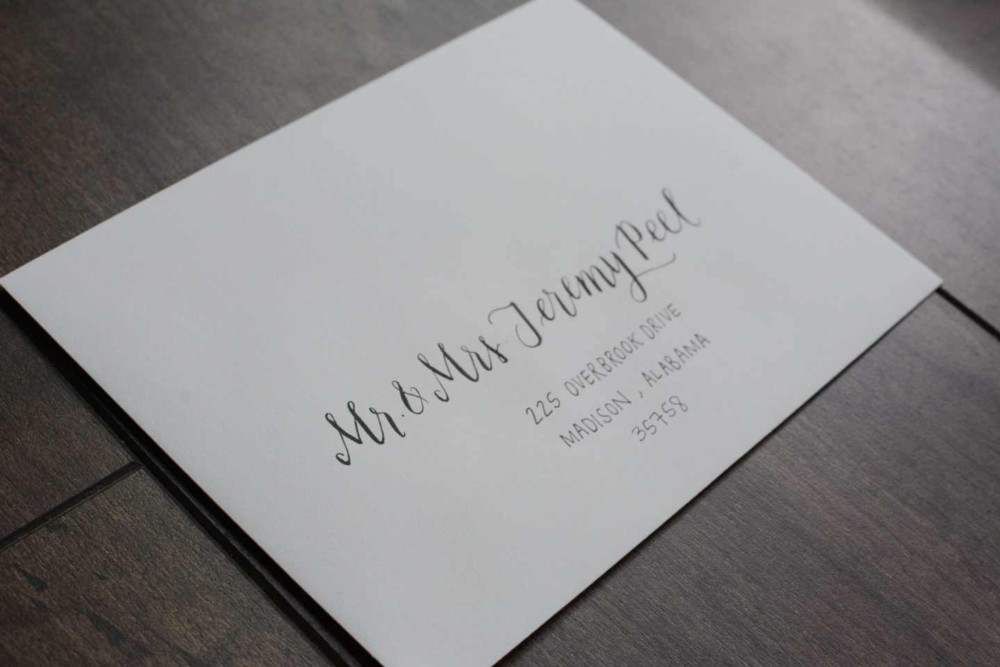 Calligraphy Envelope Address